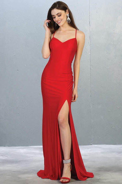 red event dress