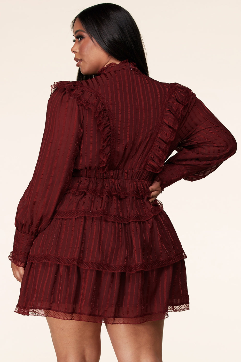 plus size Vintage stle lace dress