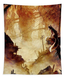 Fox in Post-apocalyptic Outpost - Tapestry