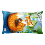 Summer Fox Waterfall Pillow