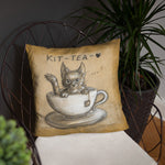 Kit-tea Pillow