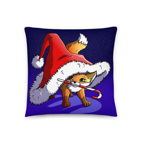Christmas Fox - Throw Pillow