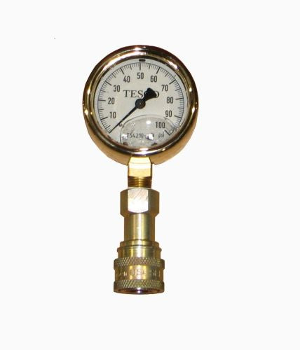 T54210-100 - Test Gauge, 0-100 PSI, With Hansen 2-HD Series Socket