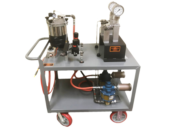 T50850-APP-D - Dual Air Powered Pump for EMD AC Traction Motor Rotor Removal and Installation