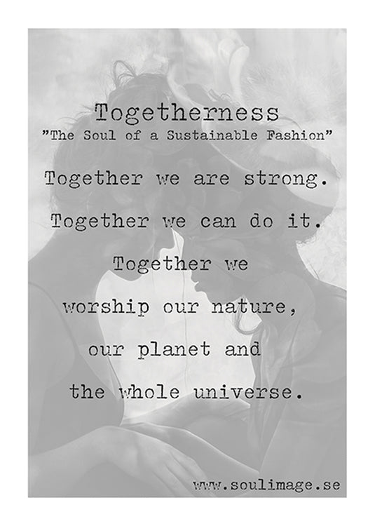 Poster - Togetherness - 30x40cm - Linneas Hage