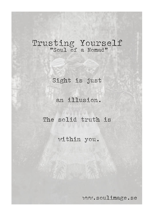 Poster - Trusting Yourself - 30x40cm - Linneas Hage
