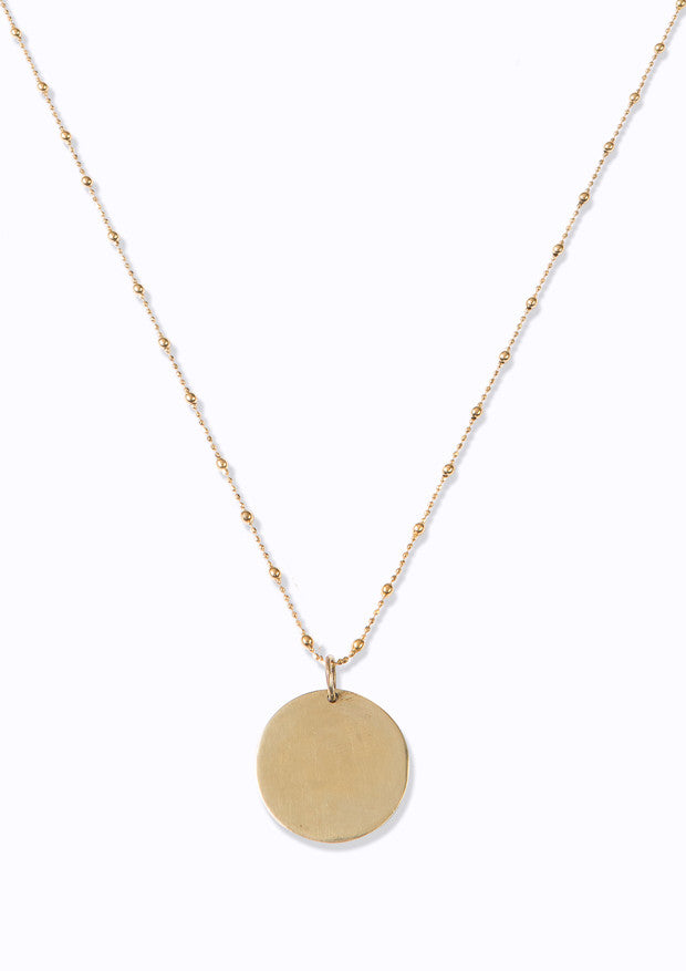 Soul | Personalised Large Disc Necklace