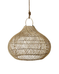 Pilgrimage Spaces | Natural Round Bamboo Pendant