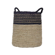 Woven Fiji Basket | Black & Natural