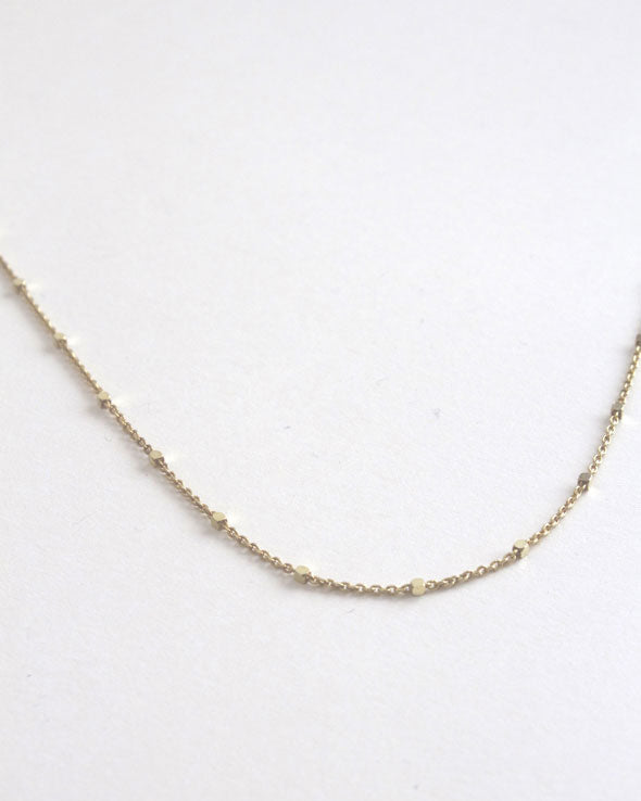Yellow | Delicate Dotted 18ct Gold Chain