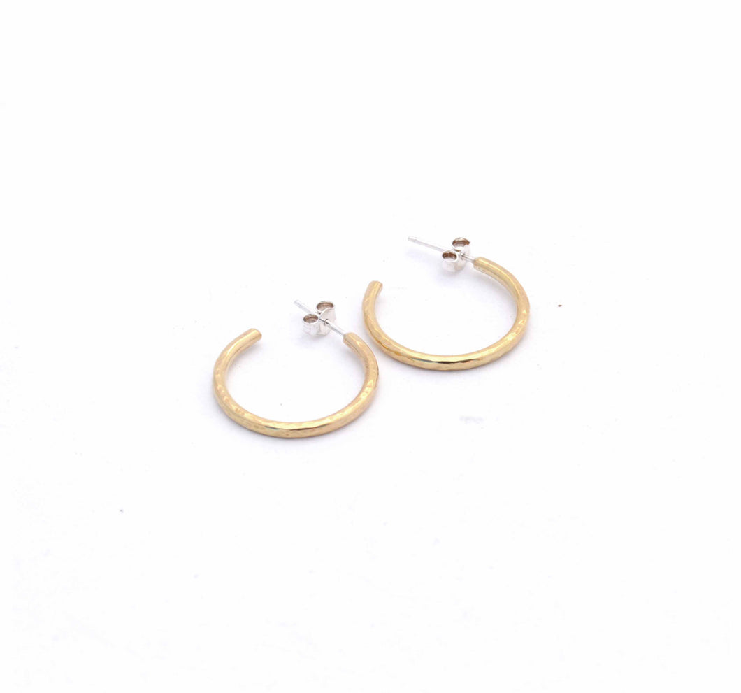 Loved by Elli | Hammered Hoop Earrings