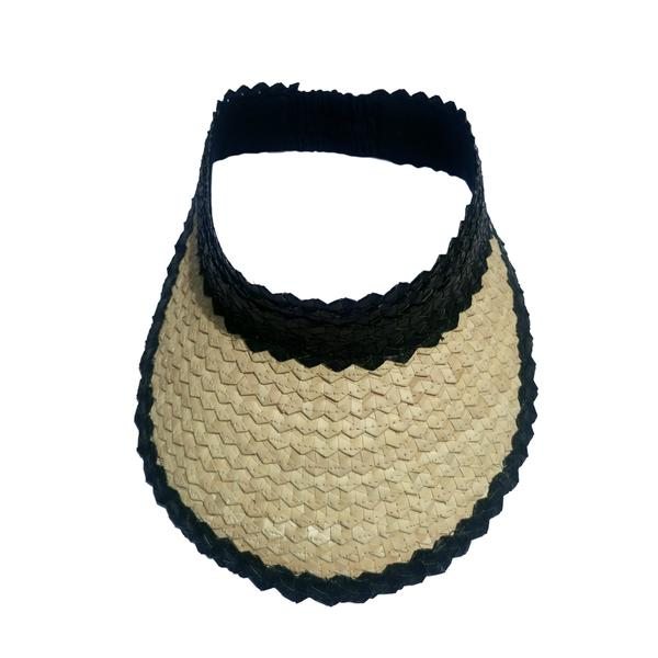 Straw Visor | Natural & Black