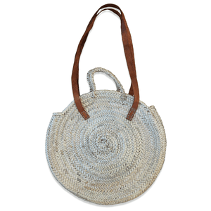 Woven Green | Round Basket Bag