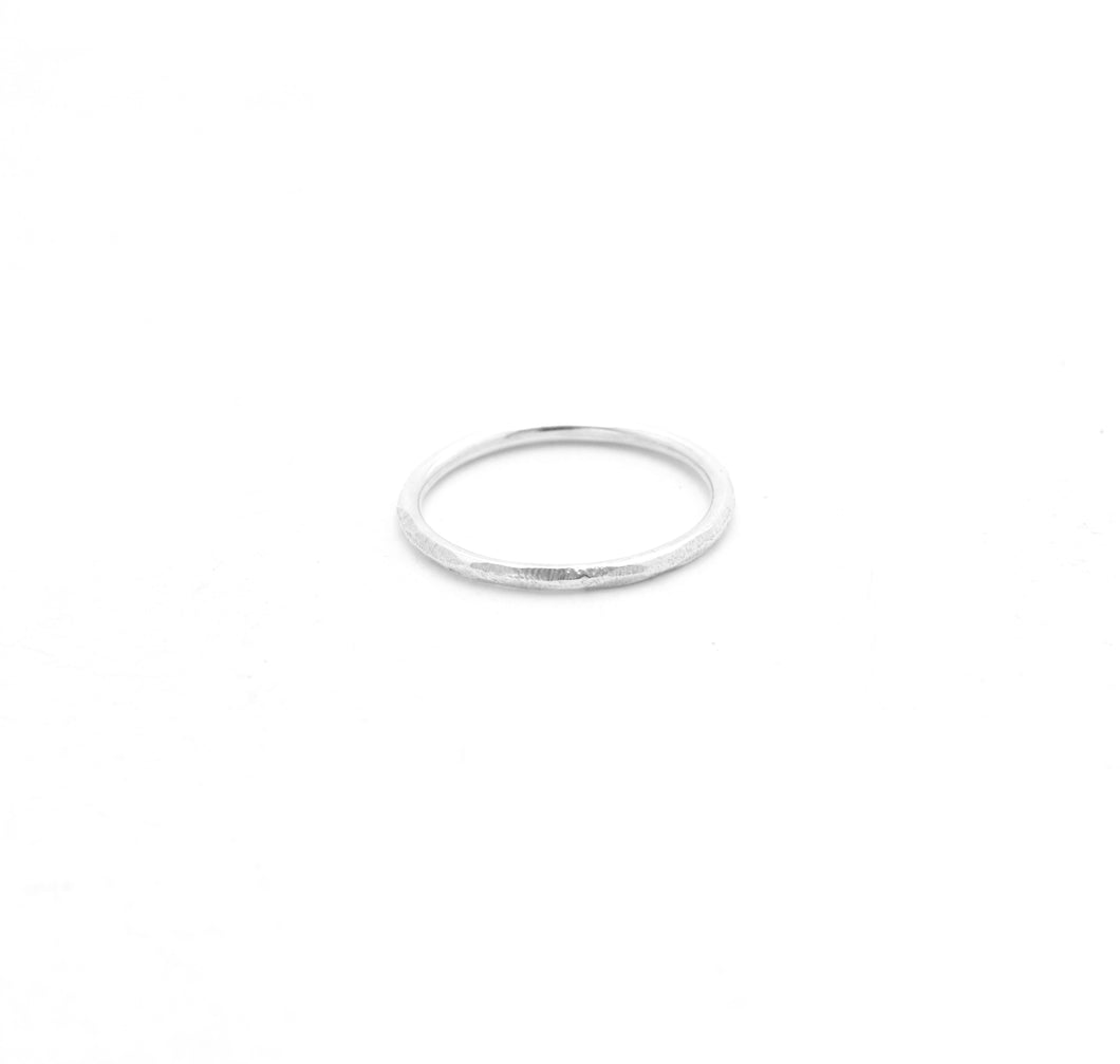 Loved by Elli | Scratched Silver Stacking Ring