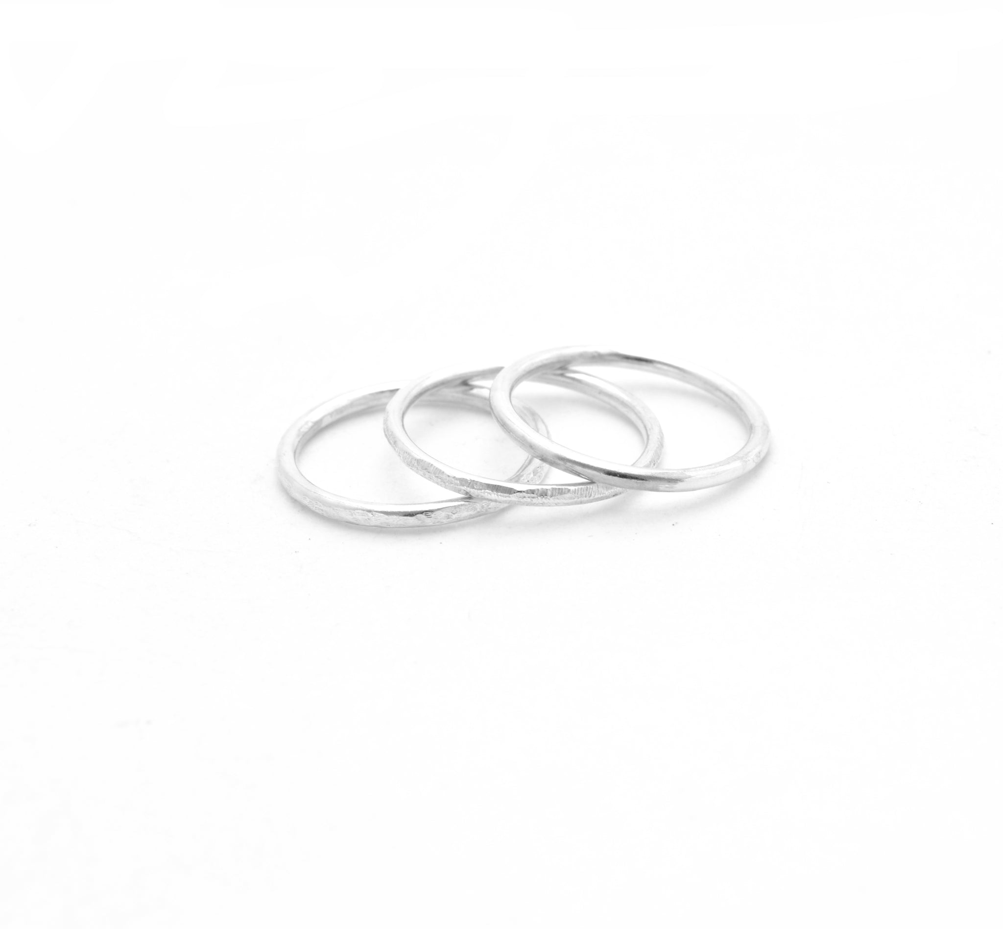 a6c8a59622f0b Loved by Elli | Hammered Silver Stacking Ring
