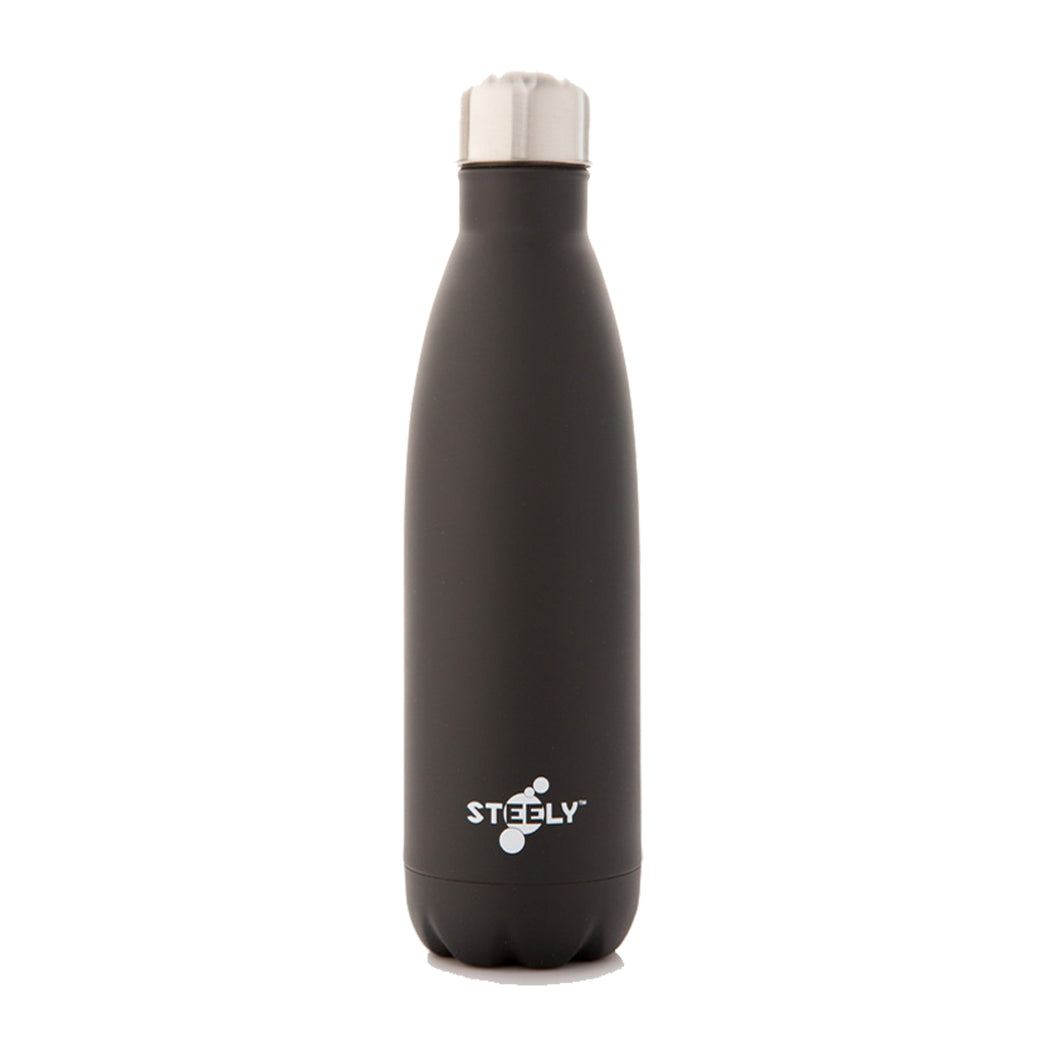 Steely Insulated Water Bottle | Matte Black