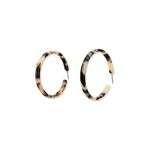 Tortoise Shell Skinny Hoops | Blonde