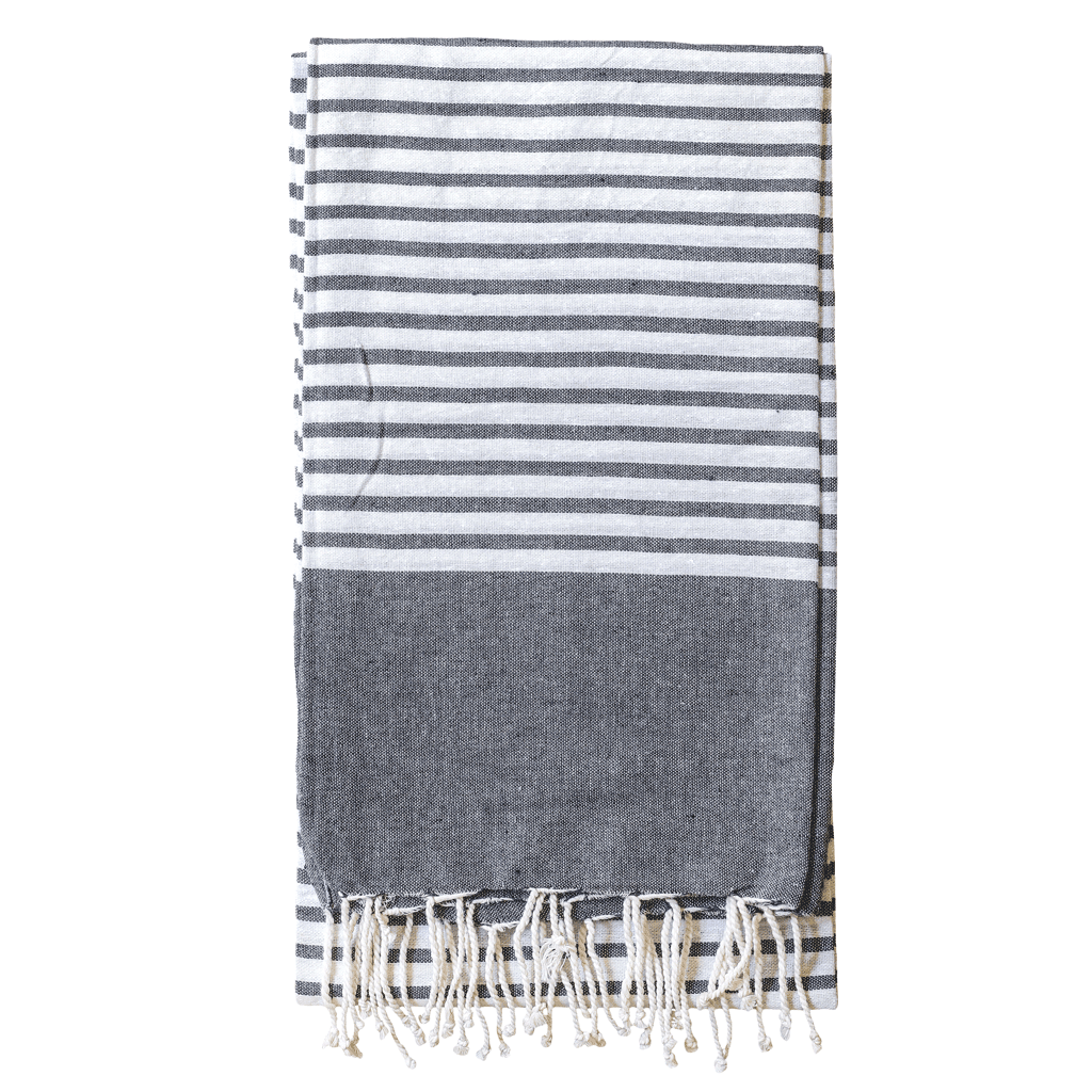 Summer Nights Beach Throw | Charcoal