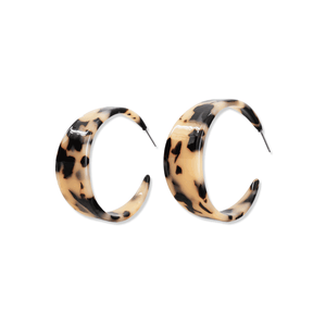Tortoise Shell Hoops | Blonde