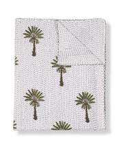 Pilgrimage Spaces | Green Palm Print Quilt