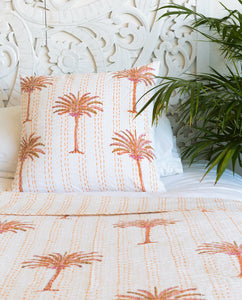 Pilgrimage Spaces | Sunset Palm Print Quilt