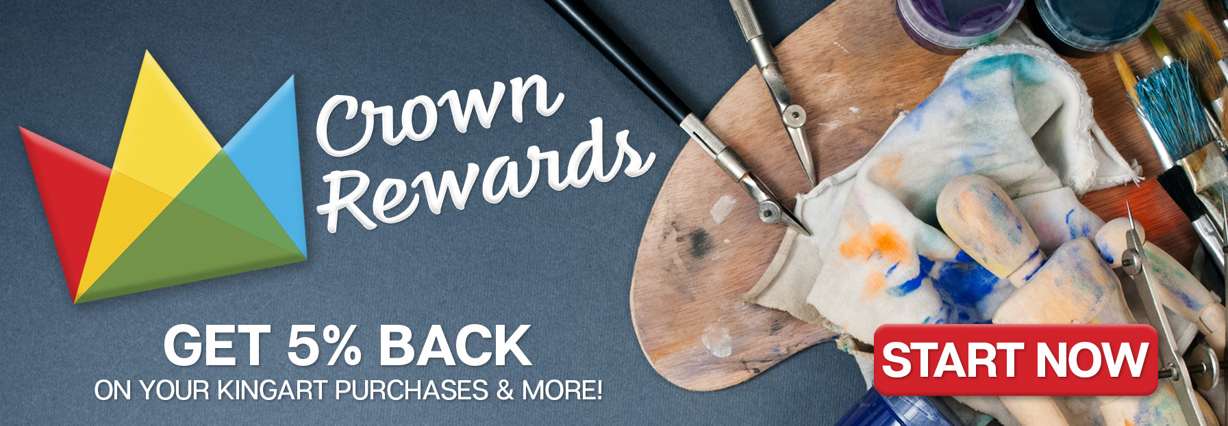 Crown Rewards. Get 5% back on your kingart purchases and more! Start now
