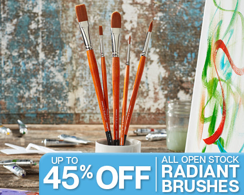 Up to 45% off all open stock radiant brushes