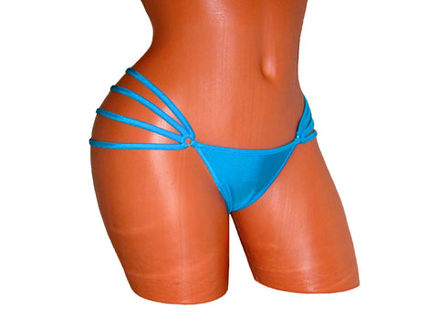 Pole Dancing Neon Blue Mini Thong