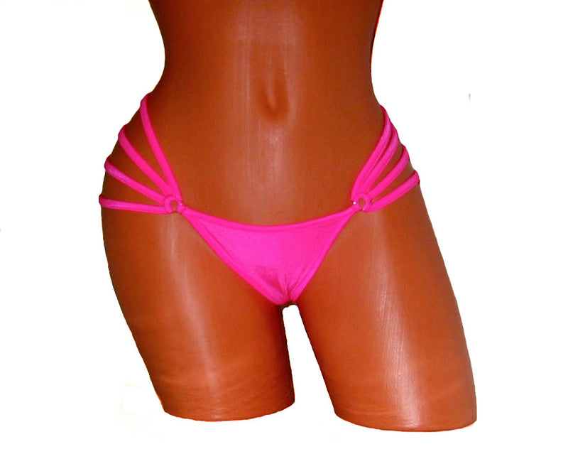 Pole Dancing Neon Pink Mini Thong