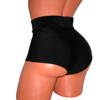 SEXY HIGH - WAISTED Black Shorts Pole Dancing Outfit Show Girls Stripper Exotic Dancewear