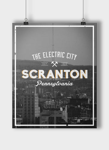 The Electric City Vintage Print