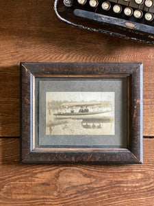 Vintage Boat Framed Photograph