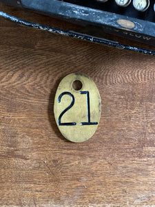Vintage Brass Cattle Tags