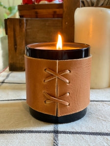 Post Monroe x A Well Worn Story 10 oz Candle with Leather Sleeve