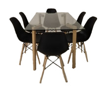 6 Seater Glass Table Dining Room Set