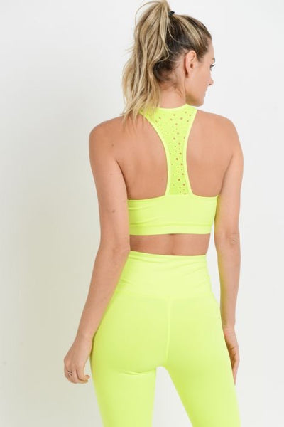 Neon Yellow Lace Bra