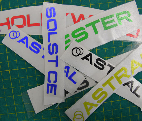 Custom Color Wheel decals