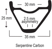 "Serpentine Carbon Rim (29"")"