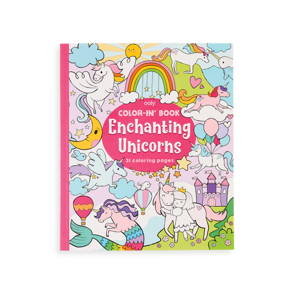 Color-in' Book, Enchanting Unicorns