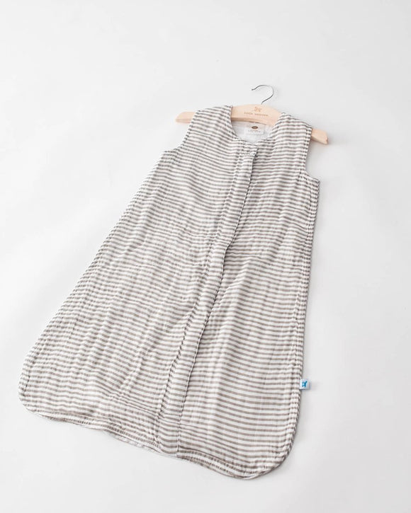 Cotton Sleeping Bag, Grey Stripe