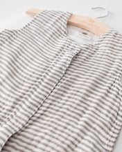 Load image into Gallery viewer, Cotton Sleeping Bag, Grey Stripe