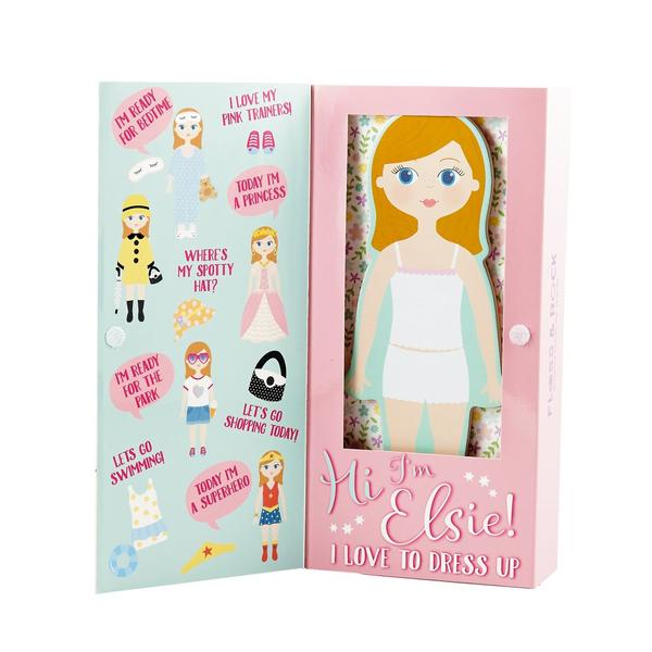 Wooden Magnetic Dress Up Dolls, Elsie