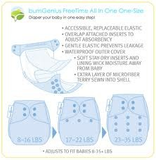 BumGenius Freetime All In One Diaper, One Size