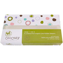 Load image into Gallery viewer, Organic Cotton Prefold Diapers, 6 Pack