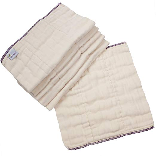 Organic Cotton Trifold Diapers, 6 Pack