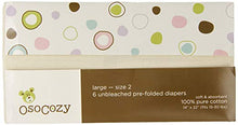 Load image into Gallery viewer, Unbleached Cotton Prefold Diapers, 6 Pack