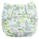 Blueberry Deluxe Pocket With Organic Cotton Inserts Diaper, One Size