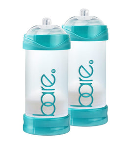 Bare Air-Free Baby Bottle, Twin Pack With Perfect Latch Nipples