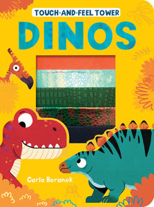 """Dinos Touch and Feel Tower"" Board Book By Patricia Hegarty"