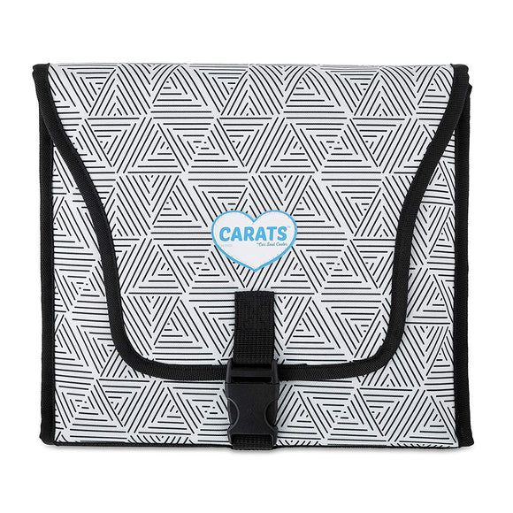 Cool Carats Car Seat Cooler, Black/White